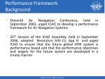 performance framework background