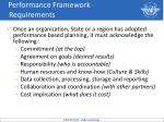 performance framework requirements