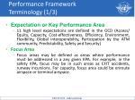 performance framework terminology 1 3