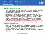 performance framework terminology 2 3