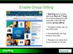 enable group gifting