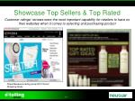 showcase top sellers top rated