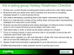 the e tailing group holiday readiness checklist