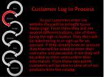 customer log in process1