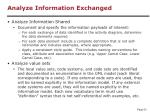 analyze information exchanged1