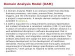 domain analysis model dam