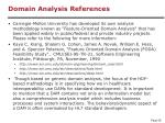 domain analysis references