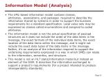information model analysis