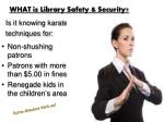what is library safety security