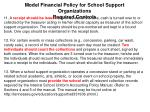 model financial policy for school support organizations required controls2