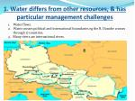 1 water differs from other resources has particular management challenges