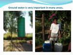 ground water is very important in many areas