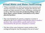 virtual water and water footprinting