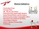 district initiatives