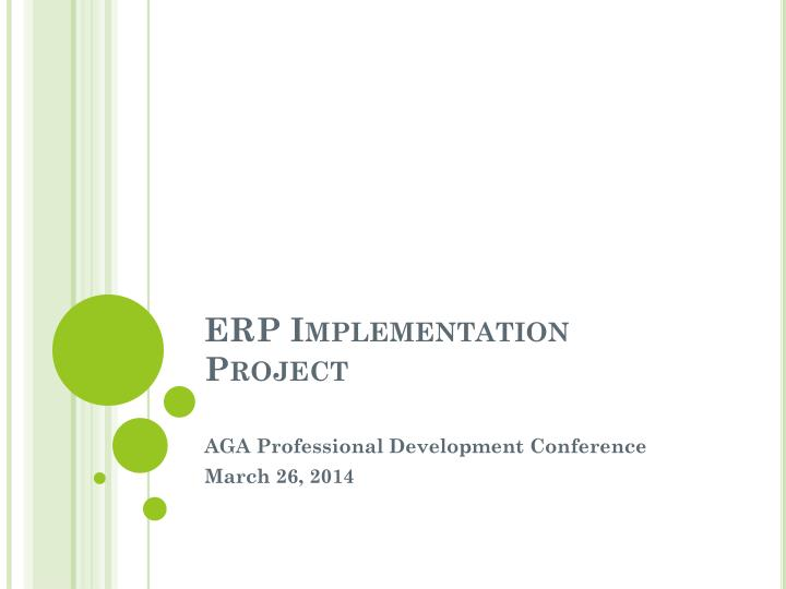 erp implementation project n.