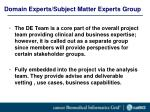domain experts subject matter experts group