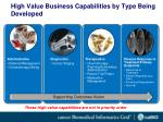 high value business capabilities by type being developed