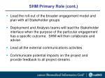 shm primary role cont