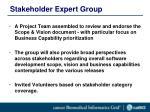 stakeholder expert group