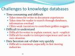 challenges to knowledge databases