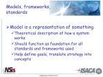 models frameworks standards