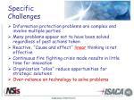 specific challenges
