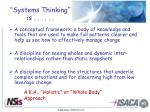 systems thinking is