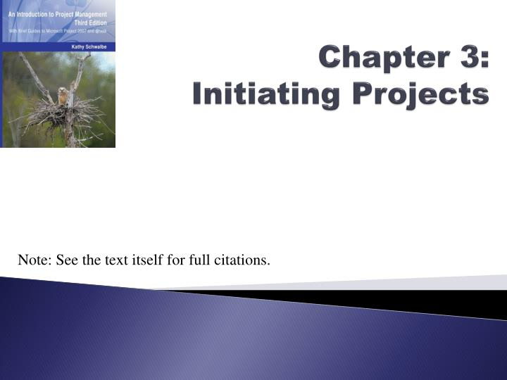 chapter 3 initiating projects n.