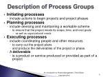 description of process groups
