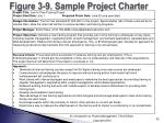 figure 3 9 sample project charter