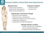 business analysis is much more than requirements