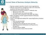 current state of business analysis maturity1