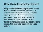 case study contractor element