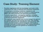 case study training element