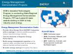 energy management demonstration projects