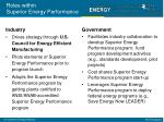 roles within superior energy performance