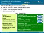 superior energy performance program design