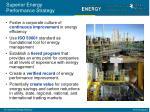 superior energy performance strategy