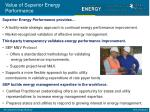 value of superior energy performance