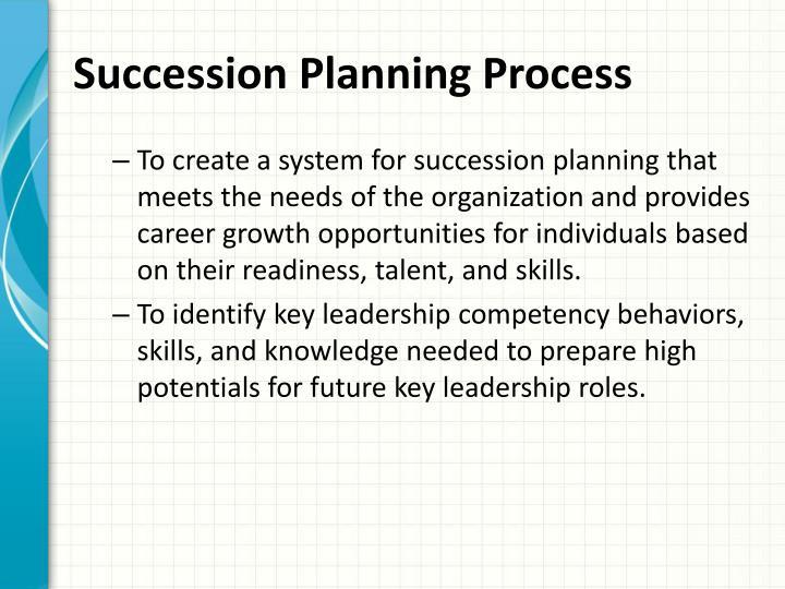 Succession Planning Process