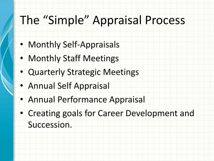 """The """"Simple"""" Appraisal Process"""