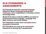 eld standards assessments