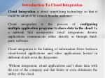 introduction to cloud integration