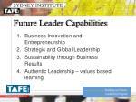 future leader capabilities