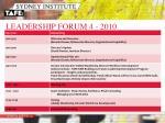 leadership forum 4 2010