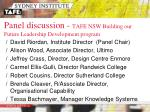 panel discussion tafe nsw building our future leadership development program