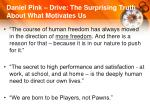 daniel pink drive the surprising truth about what motivates us