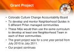 grant project