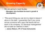 growing capacity