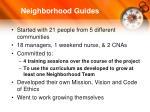 neighborhood guides